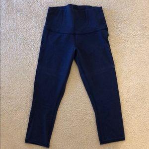 Navy lululemon cropped pants. Barely worn.